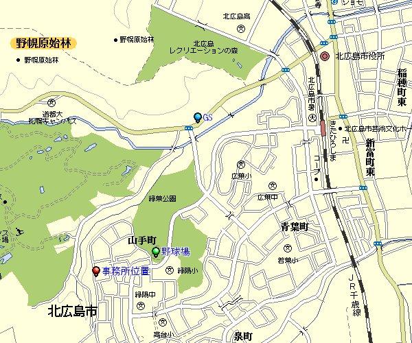 事務所までの地図